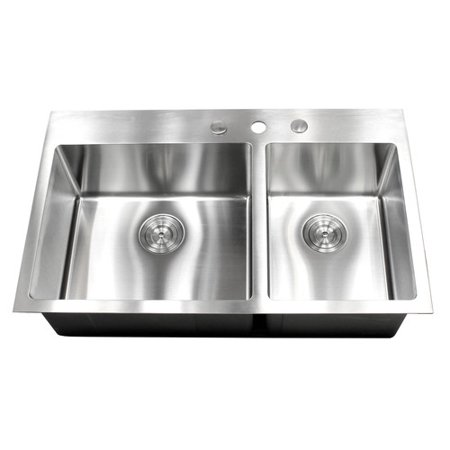 Emodern Decor 36 X 22 Double Bowl Kitchen Sink