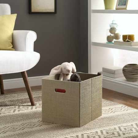 Better Homes and Gardens® Burlap Storage Bin, Rustic Tan Exterior