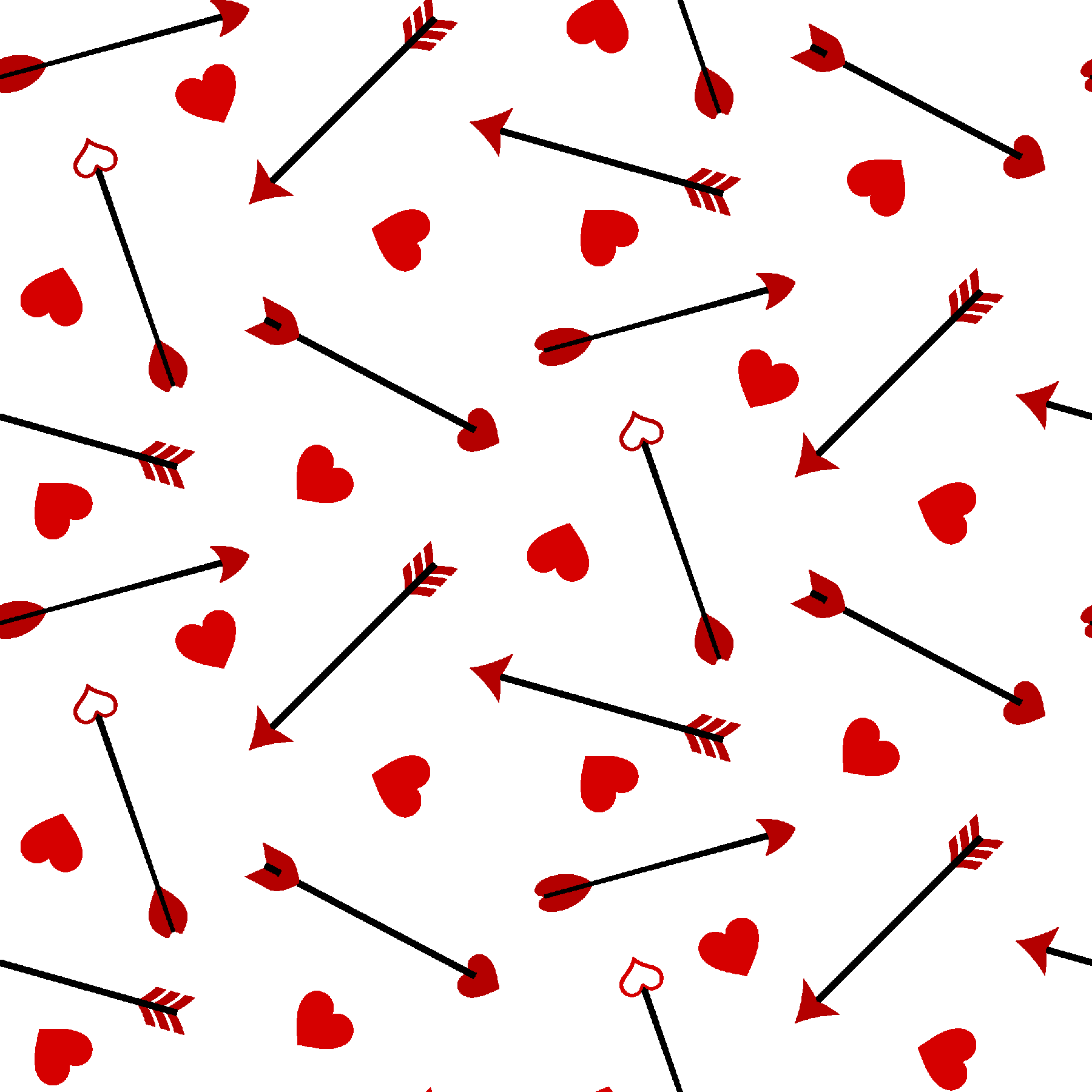 "FABRIC EDITIONS, COTTON FABRIC, FAT QUARTER, ""18X21"", VALENTINES, ARROWS"