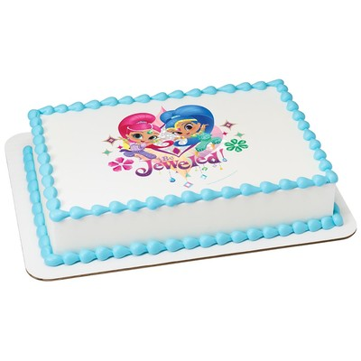 "Shimmer And Shine 7.5"" Round Cake Cupcake Edible Sheet Image Birthday Wedding Baby Shower Party Toppers"
