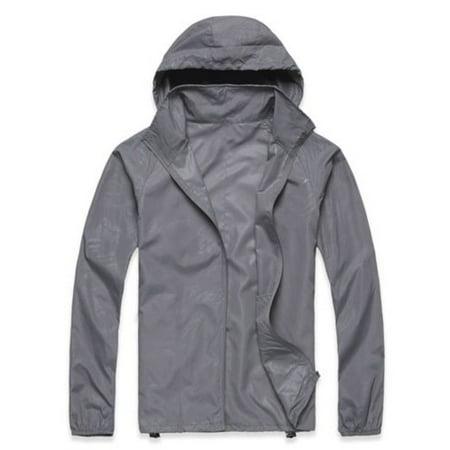 00cda2975 Mens Womens Waterproof Windproof Jacket Lightweight Rain Coat Hoodie  Outwear Zip Up Long Sleeve Plus Size Tops - Walmart.com
