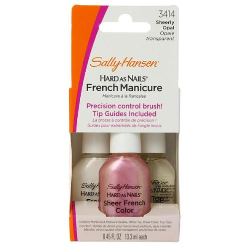Sally Hansen Hard as Nails French Manicure Kit, Sheerly Opal [3414] 3 ea (Pack of 6)