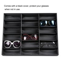 Ejoyous Glasses Display Stand, Eyeglasses Organizer,18 Grids Glasses Display Stand Sunglasses Storage Box Glasses Jewelry Organizer