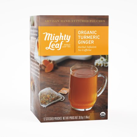 Mighty Leaf, Organic Turmeric Ginger Stitched Tea Bags, 12 - Organic Ginger Tea Bags