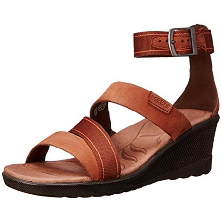 Keen Womens Skyline Suede Ankle Strap Wedge Sandals