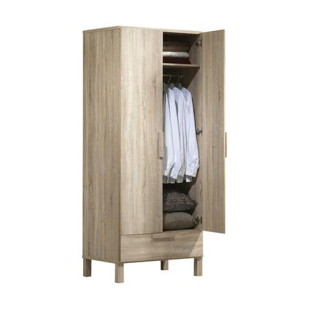 Acme Furniture Odella Wardrobe, Light Oak ()