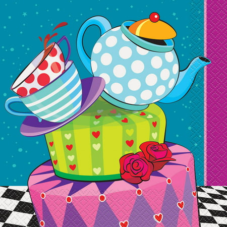 Alice in Wonderland Tea Party Lunch Napkins, 16ct - Alice In Wonderland Theme
