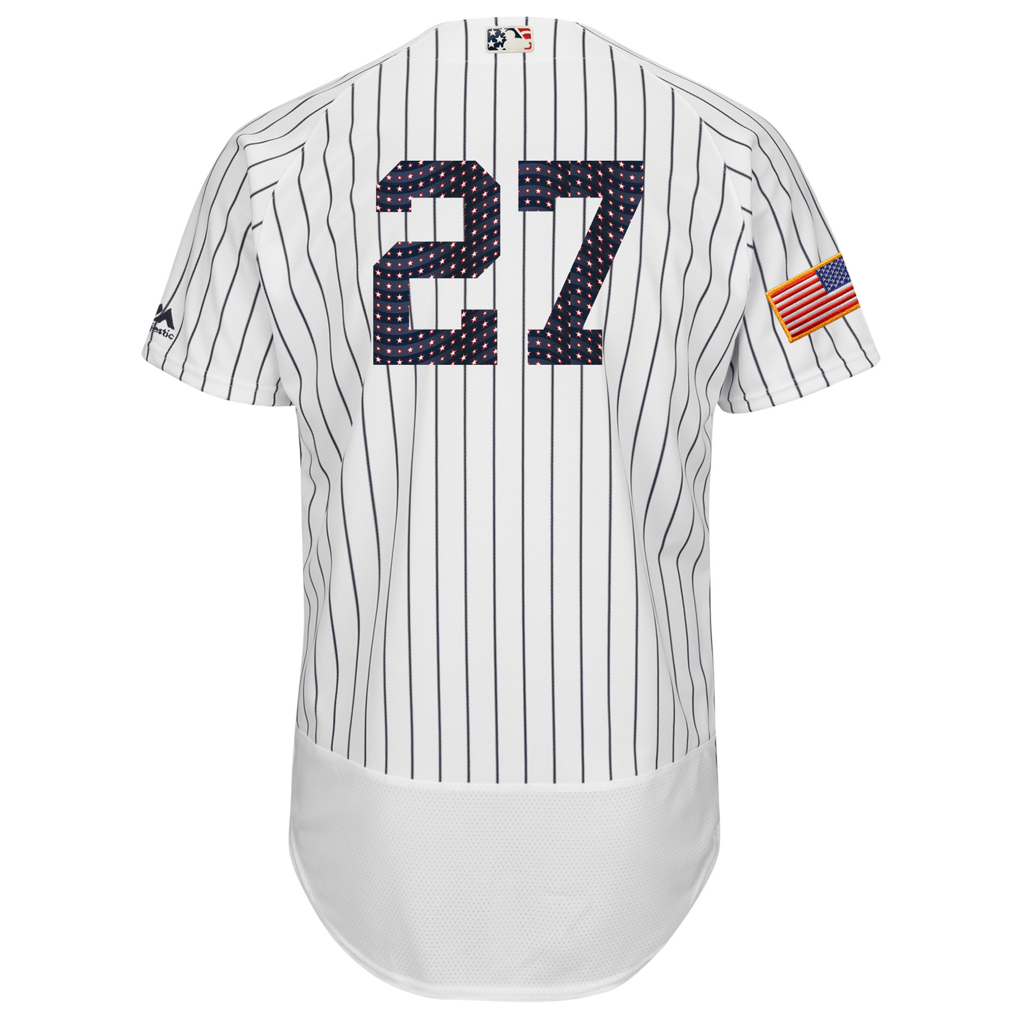 5fe940a46 Giancarlo Stanton New York Yankees Majestic 2018 Stars   Stripes Flex Base  Player Jersey - White - Walmart.com