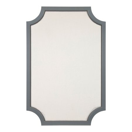 Kate and Laurel Hogan Wood Framed Fabric Pinboard with Scallop ...