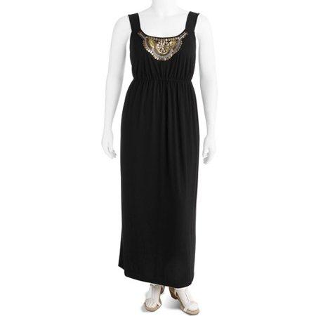 Faded Glory - Womens Plus-size Maxi Dress - Walmart.com