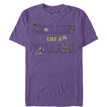 Disney Princess Men's Chillin' Like a Villain Icons T-Shirt