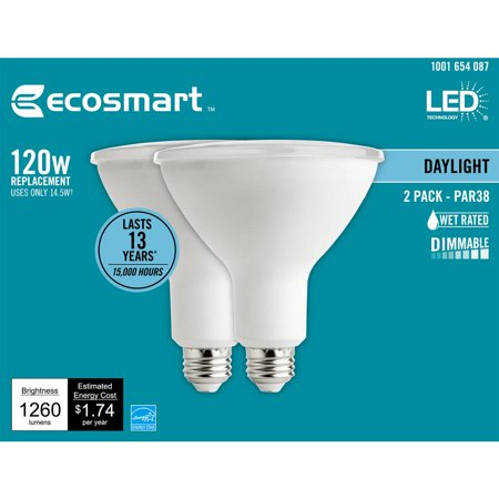 EcoSmart 120-Watt Equivalent PAR38 Dimmable Energy Star Flood LED Light Bulb Daylight (Best Ecosmart Light Bulbs)