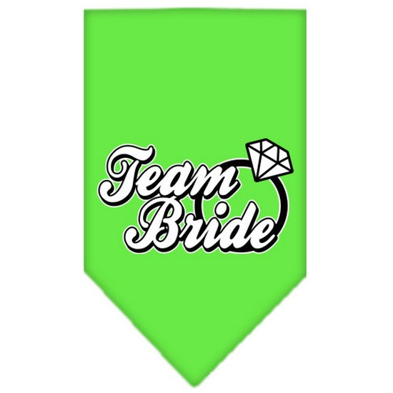 Team Bride Screen Print Bandana Lime Green Small