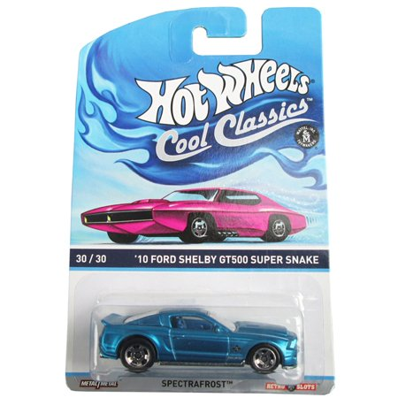 Hot Wheels Cool Classics 30/30 '10 Ford Shelby GT500 Super Snake on Pink Car Card, DIE CAST WITH PLATIC PARTS By
