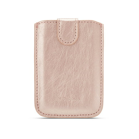 buy popular 0697e ffad5 Dteck Phone Card Holder RFID Blocking Sleeve, PU Leather Back Phone Wallet  Stick-On Pull up 5 Card Holder Universally Pocket Covers for iPhone ...