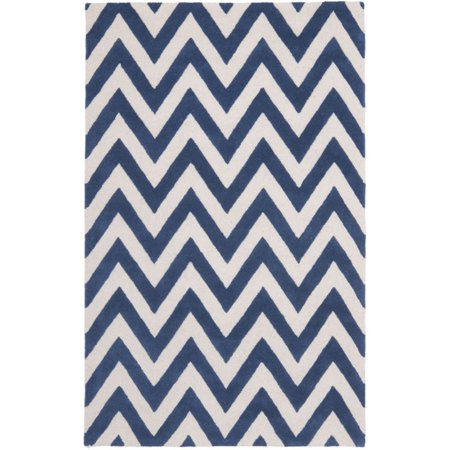 """Safavieh Cambridge 2'6"""" X 16' Hand Tufted Wool Rug in Navy and Ivory - image 3 of 3"""