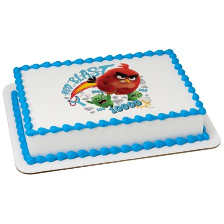 Angry Birds Red Blast 1/4 Sheet Image Cake Topper Edible Birthday Party](Angry Birds Birthday Cake)