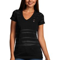 Miami Heat Antigua Women's Juke Burnout V-Neck T-Shirt - Black