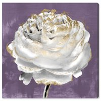 Runway Avenue Floral and Botanical Wall Art Canvas Prints 'Lilac Ranunculus' Florals - Purple, White