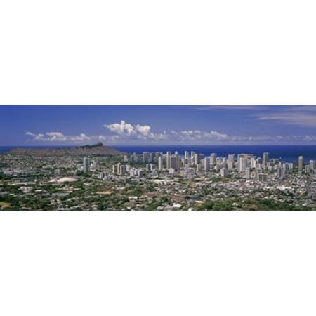 High angle view of a city Honolulu Oahu Honolulu County Hawaii USA 2010 Poster Print - Party City Oahu