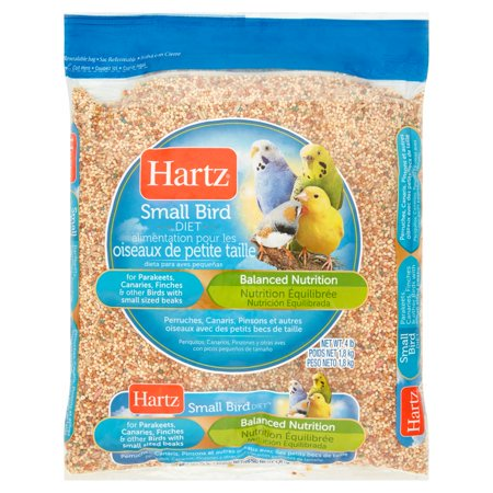 (2 Pack) Hartz Diet Small Bird Food, 4 (Bird Food 4lb Bag)