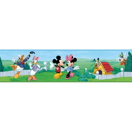 Disney - Peel & Stick Wall Border, Mickey & (Best Wall Borders)