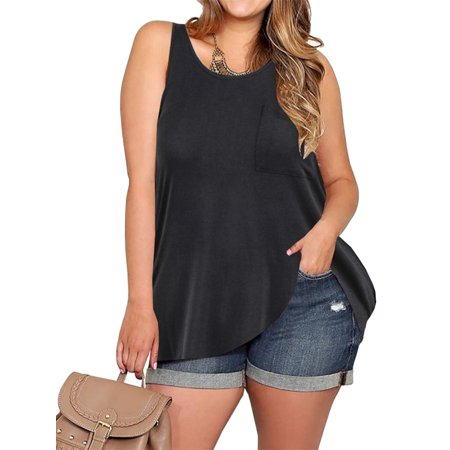 aef3edd7cbf SySea - Plus Size Women Solid Color Casual Tank Vest Shirt - Walmart.com