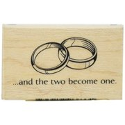 "Inkadinkado Mounted Rubber Stamp K, Two Rings 1.25"" x 2"""