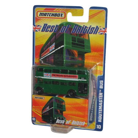Matchbox Best of British Black Wheel Routemaster Double Decker Bus Toy Car