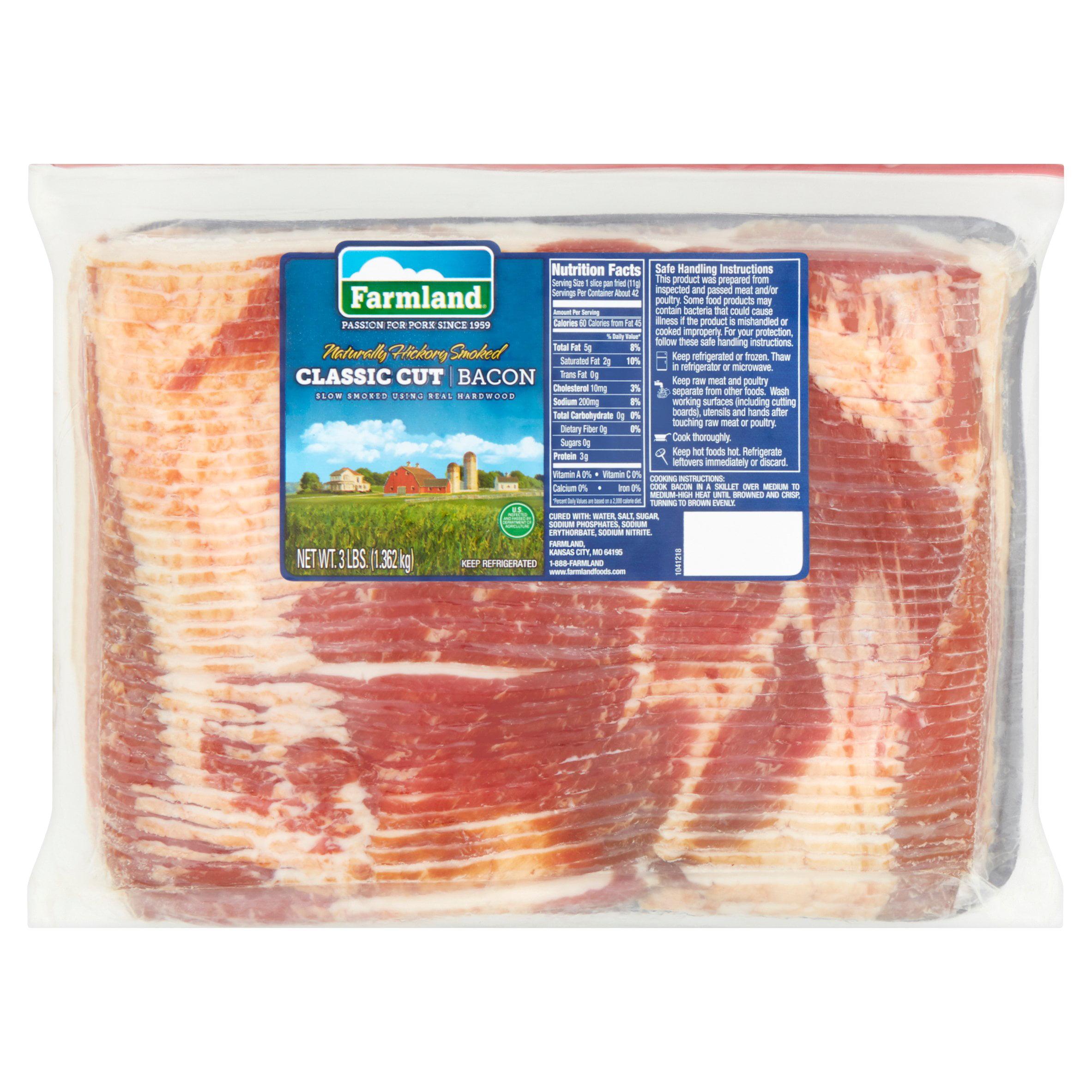 Farmland Naturally Hickory Smoked Classic Cut Bacon, 3 lbs