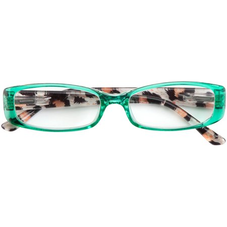 Tortoise Shell Mix - Tortoise Shell Reading Glasses - Green, Magnification 2.50X
