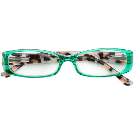 Locations Tortoise Shell Finish - Tortoise Shell Reading Glasses - Green, Magnification 2.50X
