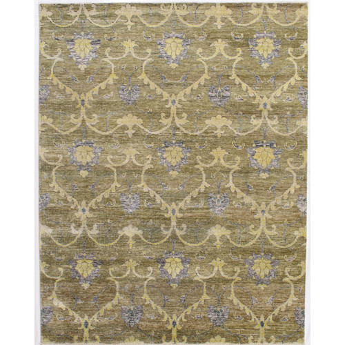 Momeni Artisan Hand-Knotted Green Area Rug