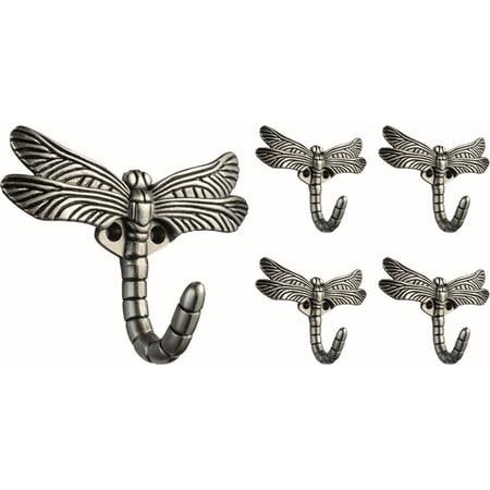 Franklin Brass Dragonfly Hook in Brushed Satin Pewter, 5 (Pewter Hooks)