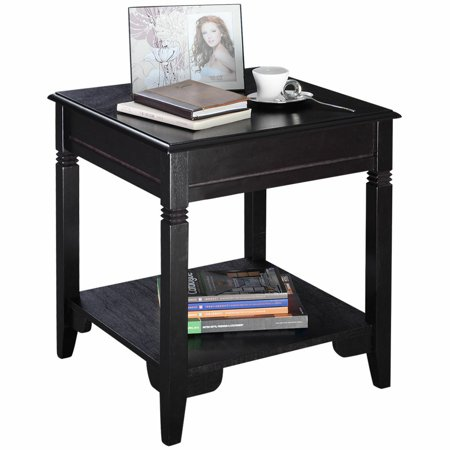 Nolan End Table Durable Side Sofa table W/Shelf Pine legs Nightstand New