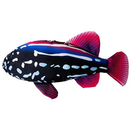 Scoochzilla grouper fish large and durable dog toy 18 for Fish dog toy