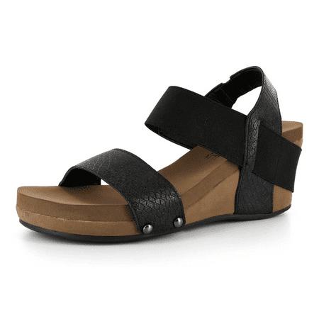 9e96491f2187 CORKYS - Corkys Bandit Comfortable Wedge Sandals - Walmart.com