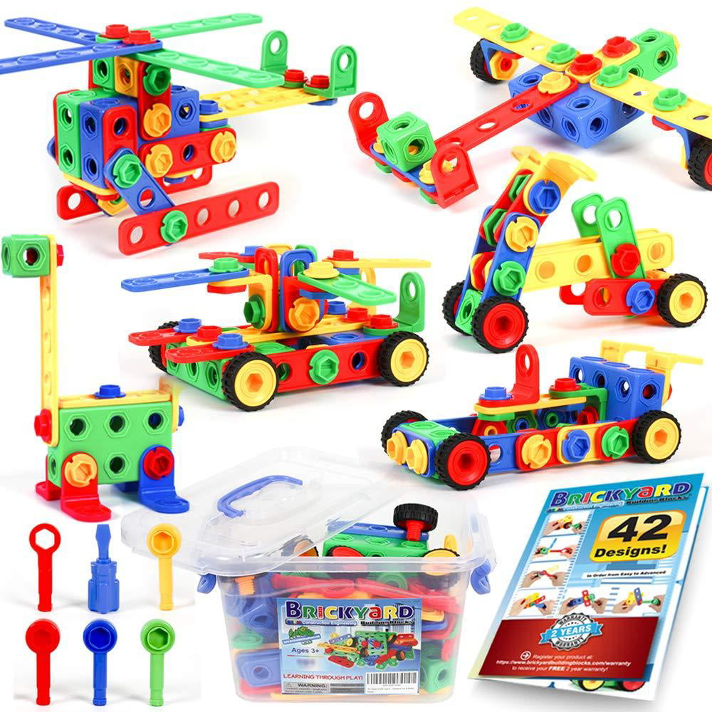 163 Piece STEM Toys Kit, Educational Construction ...