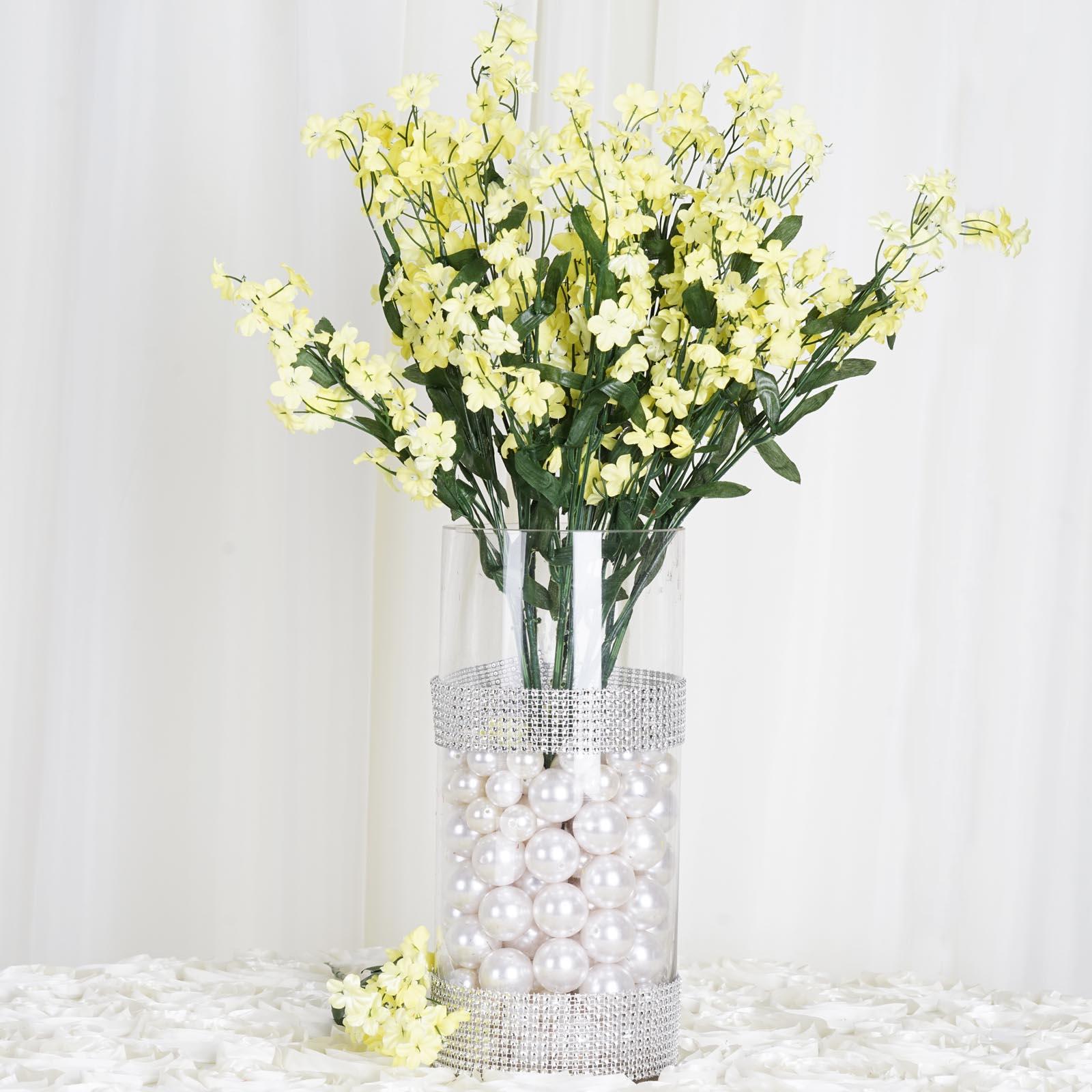 Efavormart 12 bushes BABY BREATH Artificial FILLER FLOWERS for DIY Wedding Bouquets Centerpieces Arrangements Party Home Decoration