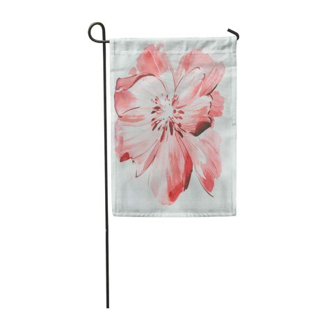 LADDKE Pattern Leaves Flowers Watercolor Draw Abstract Garden Flag Decorative Flag House Banner 12x18 - Draw Leaf