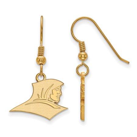 Logoart Sterling Silver W Gp Providence College Small Dangle Earrings Gp005prc