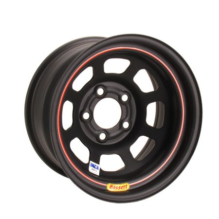 Bassett 58D52IX Flat Black D-Hole 15 x 8, 5x5 Wheel
