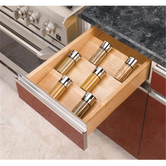 HD RS4SDI.18 Wood Spice Drawer Insert - 16 in.