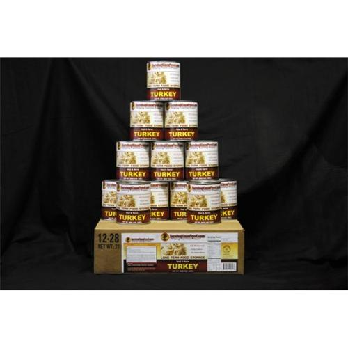 Survival Cave Food SCFTKY Canned Turkey- 12 cans - 1 case