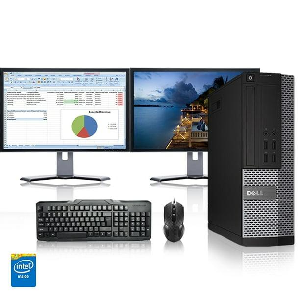 "Refurbished - Dell Optiplex 390 Desktop Computer 3.0 GHz Core i5 Tower PC, 4GB, 1TB HDD, Windows 10 x64, 19"" Dual Monitor , Radeon 128MB DDR2, USB Mouse & Keyboard"