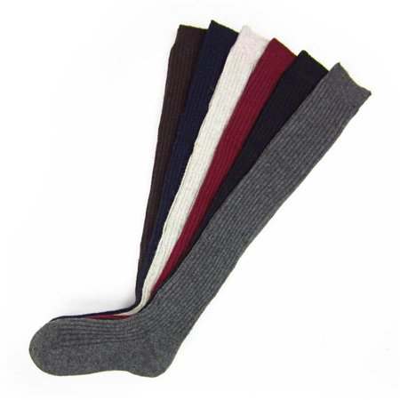 Fashion Winter Warm Women Knit Crochet Cotton Soft Thick Long Socks Thigh-High Leggings Navy blue](Red And White Long Socks)