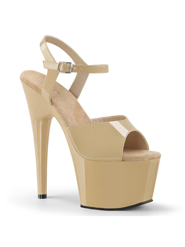 "Cream Pat/ Cream Pleaser Platforms (Exotic Dancing) 7"" - 7 1/2"" Heel Size: 11"