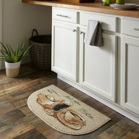 Mainstays Nature Trends Coffee Flavors Printed Kitchen Mat, 18