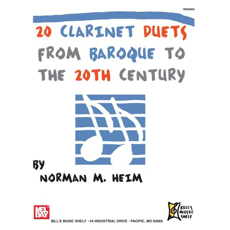 20 Clarinet Duets from Baroque to the 20th Century (Paperback) Baroque Music Book
