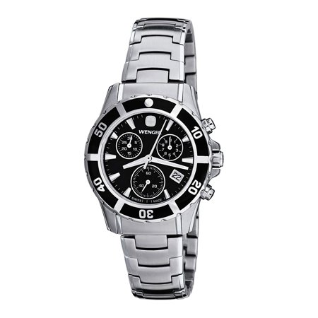 Wenger Sport Elegance Black Dial Stainless Steel Ladies Watch 70746